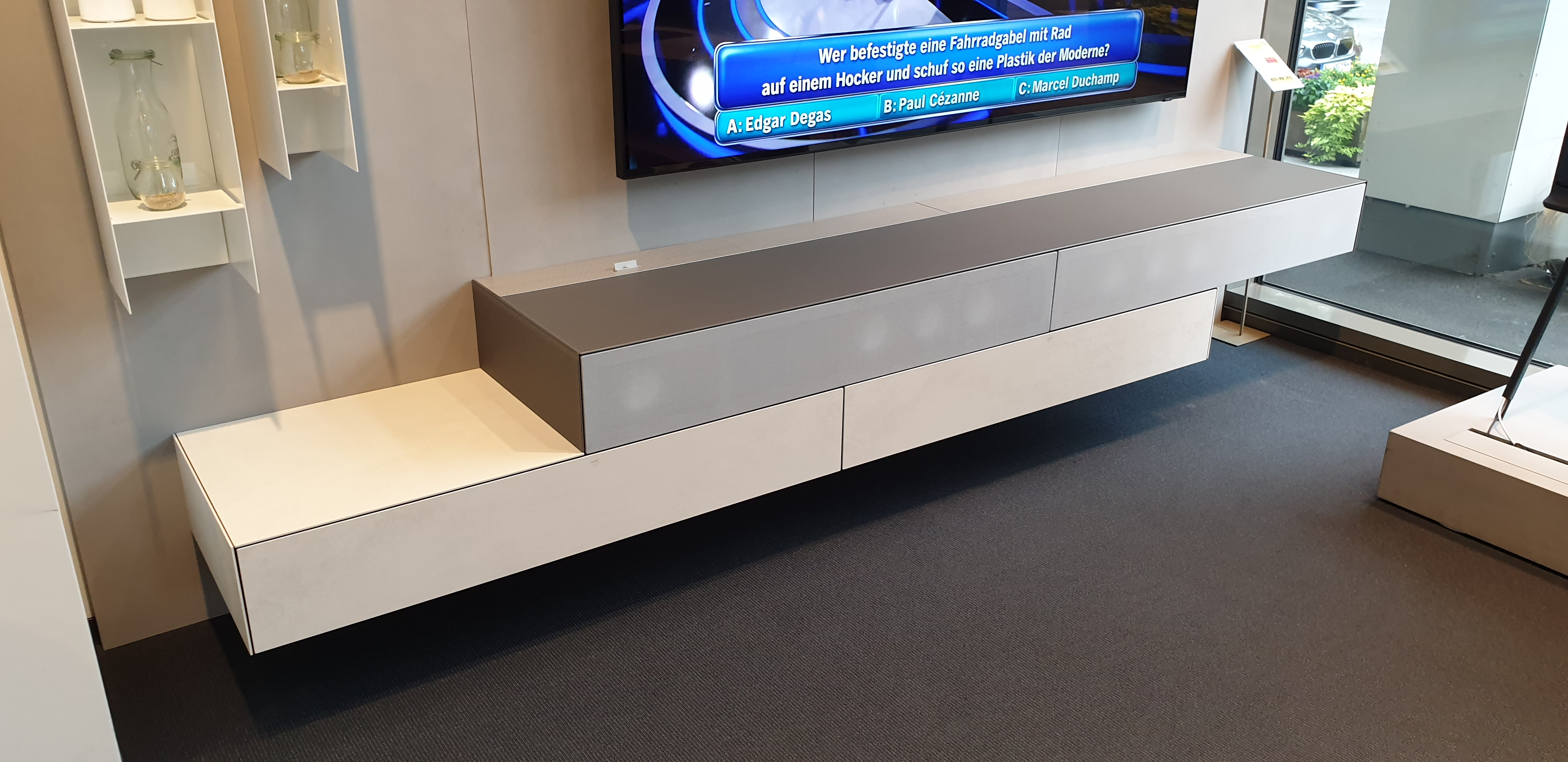 AMENO TV Möbel Lowboard mit aktiv Sound System VRA2