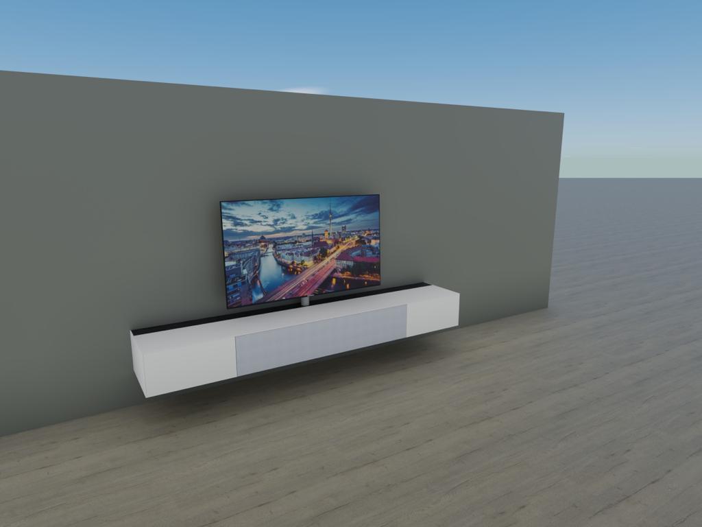 AM-Lowboard mit Soundsystem BRA3