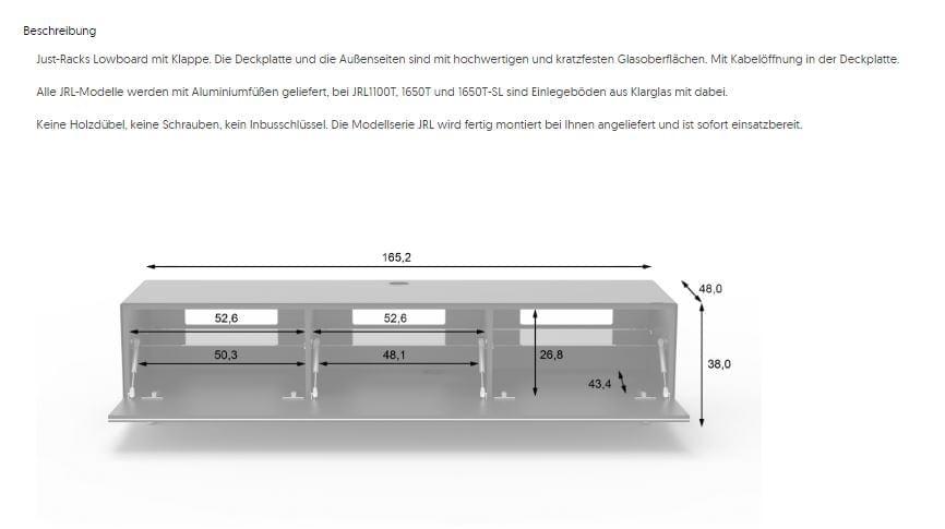 JRL1650T-BG-für Stauraum