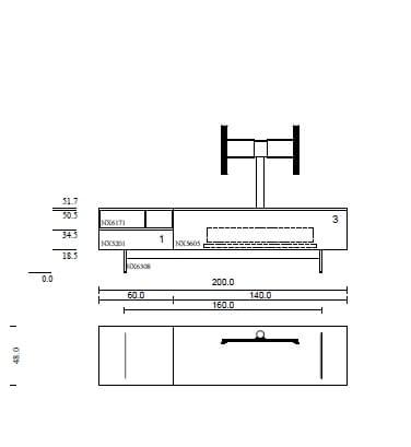 NEXT Lowboard mit TV-Halter + Soundsystem