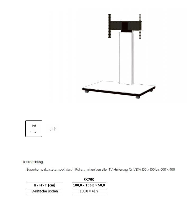 PX700-SNG-SAT TV-Stand