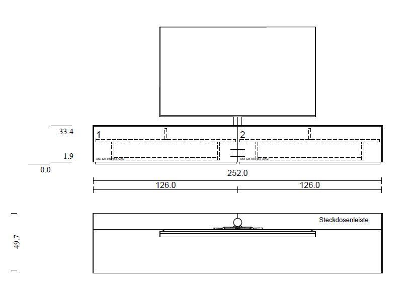Lowboard mit Soundsystem VRA1