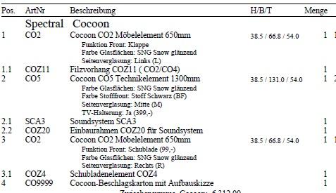Lowboard mit Soundsystem SCA3