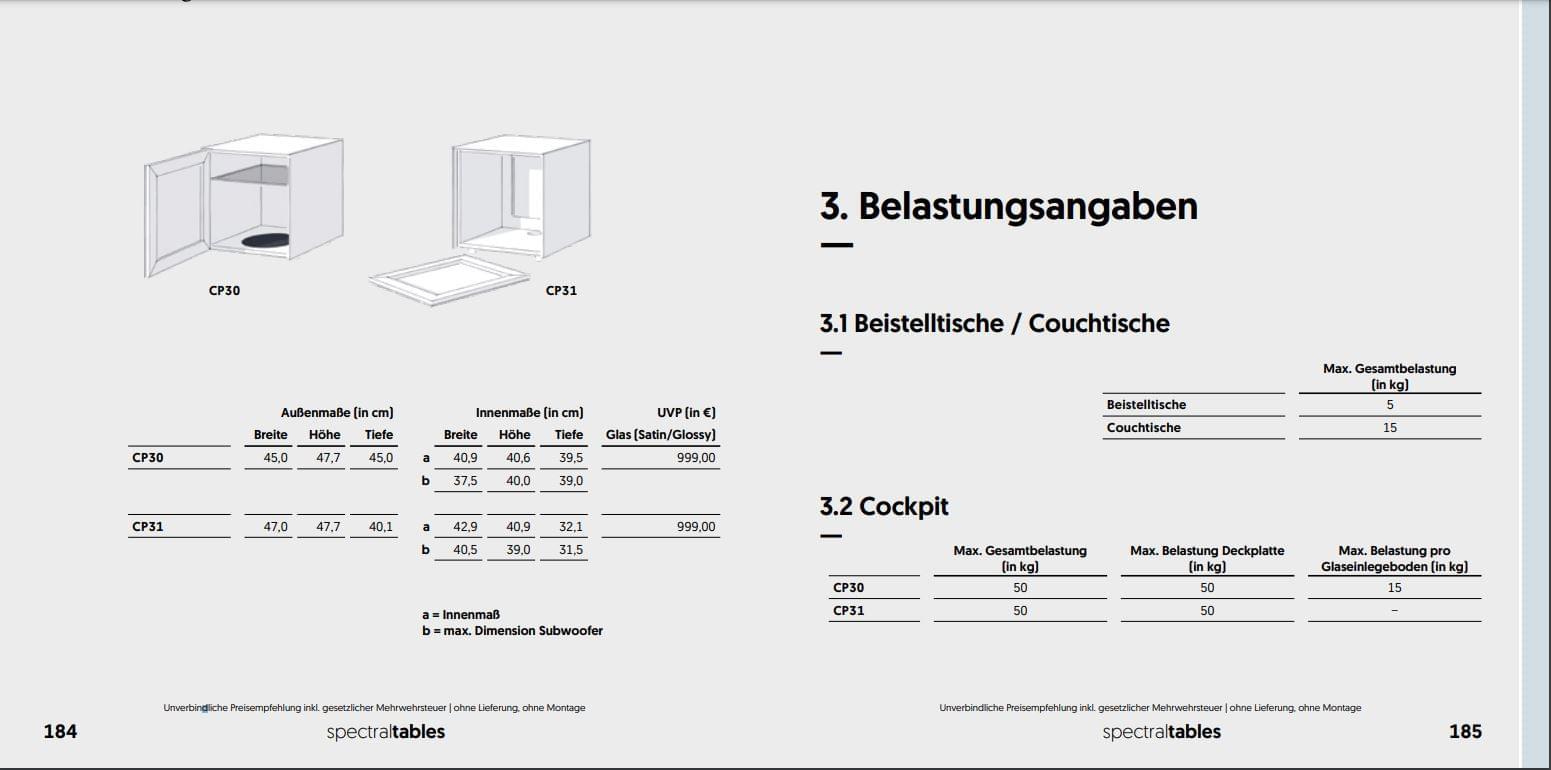 CP31-CM Beistelltisch / Sub-Stand