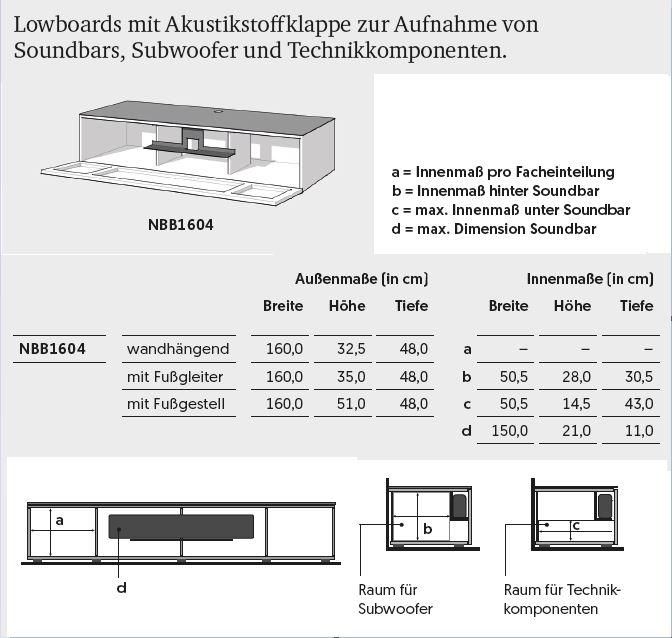 NBB1604-GW für Soundbar Integration