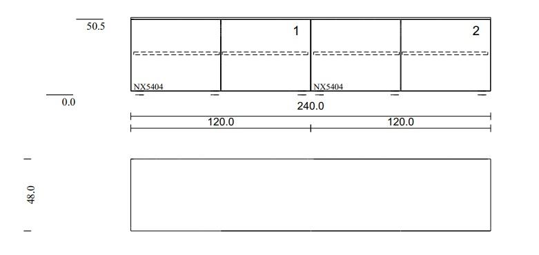 Lowboard für Stauraum mit 2 Doppeltüren