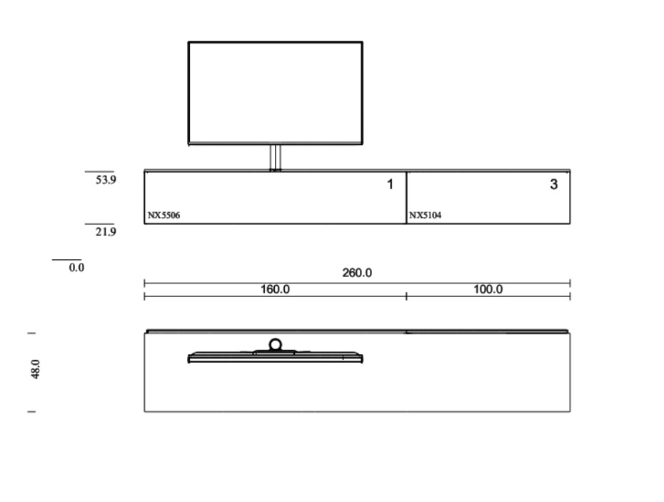 Lowboard für Soundbar mit Smart-Light