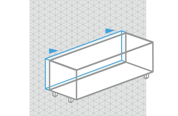 Spectral tv meubel op maat in diepte